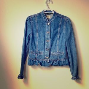 Gap Denim Closed Collar Jacket Size:Small